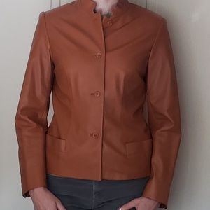 Cognac Leather Jacket